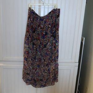 Multi Color Long Skirt Plus Size 20
